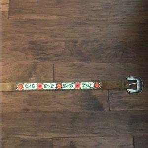 Justin floral/leather belt
